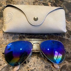 Ray-Ban Custom Rainbow Aviator Sunglasses w Case